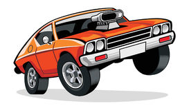 Muscle car royalty free illustration
