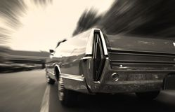 Muscle Car In Motion Stock Photos