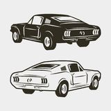 Muscle car isolated on white background. vector illustration. Muscle car isolated on white background. vintage vehicle vector illustration Stock Photography