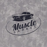 Muscle car logo Royalty Free Stock Images