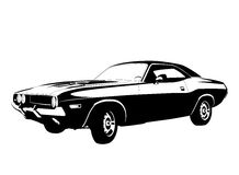 Muscle car profile Stock Photos