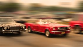 Muscle car race stock images