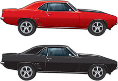 Muscle Car Sideview. Illustration of a muscle car side view Stock Images