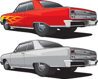 Muscle Car Sideview. Illustration of a muscle car side view Royalty Free Stock Photography