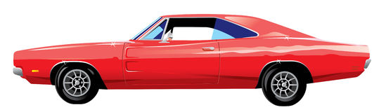 Muscle car. Stylized vector illustration Royalty Free Stock Image