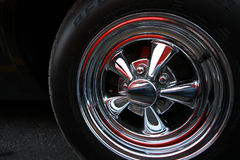 Muscle Car tire. 70s style muscle car tire/wheel Stock Image