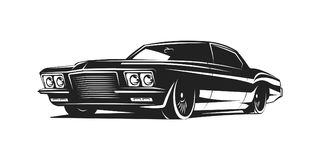 Muscle car vector poster Royalty Free Stock Photography
