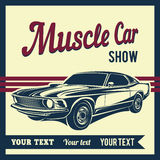 Muscle car vector poster Royalty Free Stock Photos