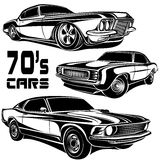 Muscle car vector poster Stock Photos