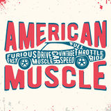 Muscle car vintage stamp Stock Photography