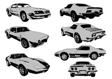 Muscle cars Royalty Free Stock Image