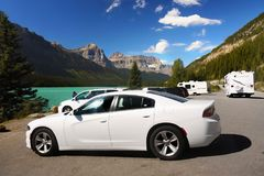 Muscle Cars, New White Dodge Charger Royalty Free Stock Image