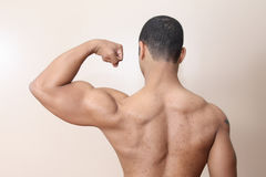 muscle d'homme photographie stock