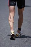 Muscle de veau de Runnerâs Photographie stock libre de droits