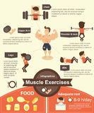 Muscle Exercises infographics Stock Photography