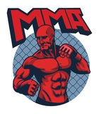 Muscle fighter man. Vector of muscle fighter man Royalty Free Stock Photo