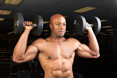 Muscle Fitness Dumbell Exercise Stock Images