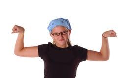 Muscle Girl Stock Image