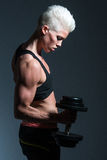 Muscle girl Royalty Free Stock Photos