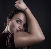 Muscle Girl Royalty Free Stock Image