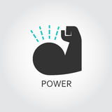 Muscle hand. Willpower, business, healthy theme Stock Photo