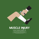 Muscle Injury With Spray Healing Stock Image