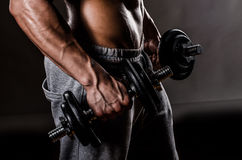 Muscle male chest Stock Photo