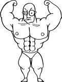 Muscle Man. Vector illustration of a weight lifterflexing his muscles Royalty Free Stock Photos