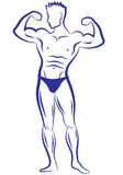 Muscle man,  Royalty Free Stock Photography