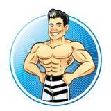 Muscle Man stock photo