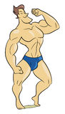 Muscle man. Cartoon style illustration of a muscle man royalty free illustration