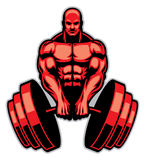 Muscle man bodybuilder. Vector of muscle man bodybuilder Stock Photography