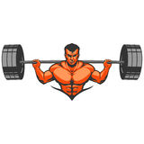 Muscle man bodybuilder Royalty Free Stock Photos