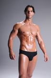 Muscle Man In Briefs Stock Image