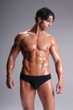 Muscle Man In Briefs Stock Photos
