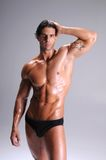 Muscle Man In Briefs Royalty Free Stock Image