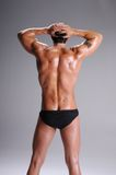 Muscle Man In Briefs Royalty Free Stock Photos