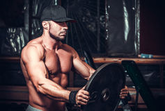 Muscle man in club Stock Image