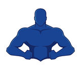 Muscle man figure Royalty Free Stock Images