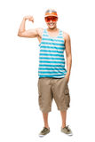 Muscle man showing muscles Royalty Free Stock Photos