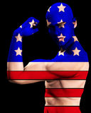 Muscle Man US 10. A man with the American flag on his body, a great image for every patriotic American Stock Photography