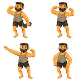 Muscle Man Royalty Free Stock Photo