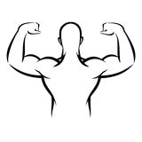 Muscle man. Vector illustration : Muscle man on a white background Stock Photography