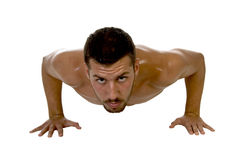 Muscle man at workout Stock Photography