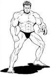 Muscle o desenho do homem Fotografia de Stock Royalty Free