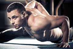 Muscle push-ups exercise royalty free stock image