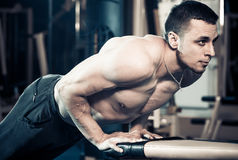 Muscle push-ups exercise royalty free stock photography