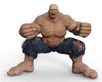 Muscle ready to kill Stock Image