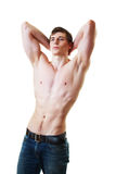Muscle sexy young man Royalty Free Stock Photography