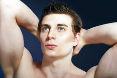 Muscle sexy young man Stock Photography